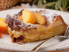 "Our easy French toast recipe we like to call Peaches and Cream French Toast is just what you need to ""wow"" Mom this Mother's Day. Prepare it the night before, and all you'll need to do is pop it into the oven in the morning."