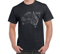 Australia T Shirt Tee Kangaroo Platypus Koala by FreakyTshirtShop