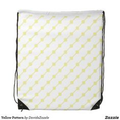 Yellow Pattern Drawstring Bag  Available on many more products! Type in the name of this design in the search bar on my Zazzle products page!   #abstract #art #pattern #design #color #accessory #accent #zazzle #buy #sale #fashion #tote #bag #mirror #compact #make-up #women #living #modern #chic #contemporary #style #life #lifestyle #minimal #simple #plain #minimalism #square #line #white #yellow #drawstring #gym #work #out