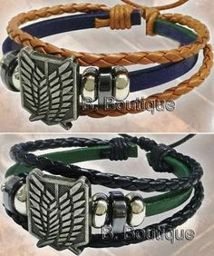 Attack on Titan Survey Corps Leather Bracelet x1 Only Shingeki No Kyojin | eBay