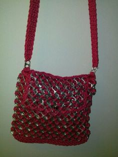 soda can top and crochet purse by my mom on Etsy, $25.00