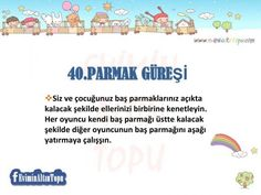 Çocuğunuzla 60 Güne 60 Oyun Önerisi | En İyi Oyunlar Home Activities, Infant Activities, Quilling 3d, Special Education, Games For Kids, Elementary Schools, Montessori, Drama, Parenting