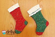 Como Fazer Meia de Natal de Tecido Passo a Passo?