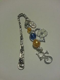Relief Society beaded bookmark