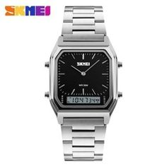 Cheap masculino, Buy Quality masculinos relogios directly from China masculino watch Suppliers: SKMEI Luxury Fashion Casual Quartz Watch Waterproof Stainless Steel Band Analog Digital Sports Watches Men relogio masculino Elegant Watches, Casual Watches, Cool Watches, Wrist Watches, Women's Watches, Mens Sport Watches, Luxury Watches For Men, Fashion Casual, Mens Fashion