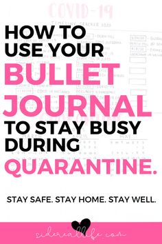 Avoid cabin fever & start using your planner to keep busy during quarantine! Try these awesome bullet journal ideas to stay sane and be productive while at home during the pandemic. Bullet Journal Index Page, Bullet Journal Prompts, Bullet Journal Lettering Ideas, Bullet Journal Hacks, Bullet Journal How To Start A, Bullet Journal Ideas Pages, Bullet Journal Layout, Bullet Journal Inspiration, Bullet Journals