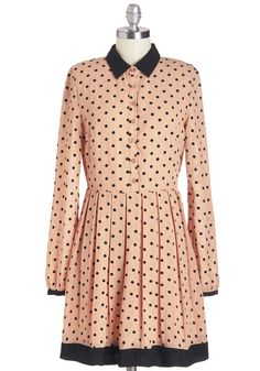 Best of Flock Dress. Say hello to the frock with the finest flocking by greeting this darling dotted dress with a smile. #blush #modcloth