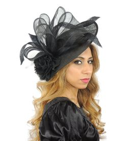 Saratoga Black Fascinator Hat For Weddings By Hatsbycressida