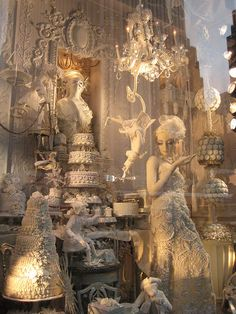 Photo by eclectic charm, NYC Christmas windows 2008