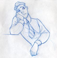 """Early character design sketch of Naveen (then Henry) from Disney's """"The Frog Princess"""" by Randy Haycock."""