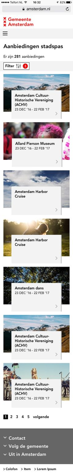 Amsterdam.nl Freelance User Interface designer sketches by Factor 10 #UI #Sketch
