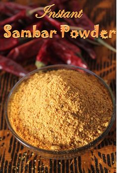 YUMMY TUMMY: Bachelor Sambar Powder Recipe / Instant Sambar Powder Recipe