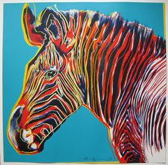 Andy Warhol Grevy's Zebra (from Endangered Species Portfolio) (F II. 300), 1983, from selection of Andy Warhol Prints for sale at Joseph K. Levene Fine Art, Ltd.