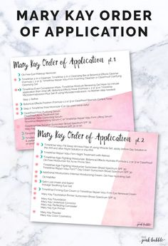 Mary Kay Order of Application double sided postcard! Perfect for tucking into orders. Find it only at www.thepinkbubble.co!