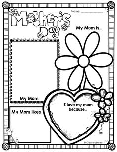 Mother's Day craftivities and activities! $