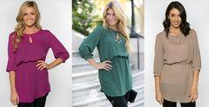 Zeyla Tunic Dress! S-XL Sizing! 4 Color Options! | Jane