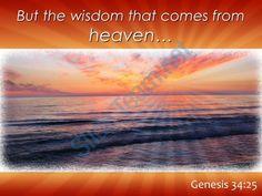 genesis 34 25 the wisdom that comes from heaven powerpoint church sermon Slide01 http://www.slideteam.net/