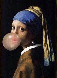 Girl with a Pearl Earring [Johannes Vermeer] culture Earring girl Johannes Pearl Vermeer Johannes Vermeer, Art Sketches, Art Drawings, Fantasy Drawings, Girl With Pearl Earring, L Wallpaper, Album Design, Arte Pop, Funny Art