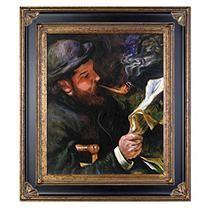 Pierre-Auguste Renoir Claude Monet Reading Hand Painted Oil Reproduction