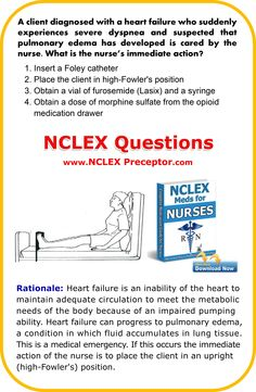 Learn nursing NCLEX interventions. Great place to get FREE practice NCLEX questions for student nurses. www.nclexpreceptor.com Nursing School Graduation, Nursing School Tips, Nursing Tips, Nursing Exam, Nursing Schools, Nclex Questions, Medical Questions, Nursing Students, Medical Students