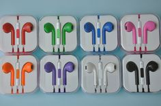 Colorful two tone Earbuds EarPods with Remote And mic Earphone Headphone for Apple iPhone 5 5G on Etsy, $4.99 Classy Closets, Cool Inventions, Apple Iphone 5, Iphone 6 Cases, Remote, Headphones, Colorful, Unique Jewelry, Handmade Gifts