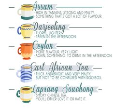 Right. Before we go any further, here's a handy breakdown of the kinds of tea you might encounter: