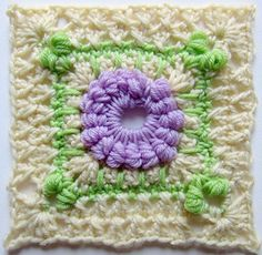 "Hydrangea Shrub, 6"" Square crochet pattern by Marie Segares, free through March, 2014 with coupon code NatCroMo14"