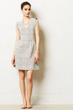 Anthropologie Teahouse Dress Size 8P, Jacquard Floral Fit-and-Flare By Tabitha #Tabitha #TeaDress #Cocktail