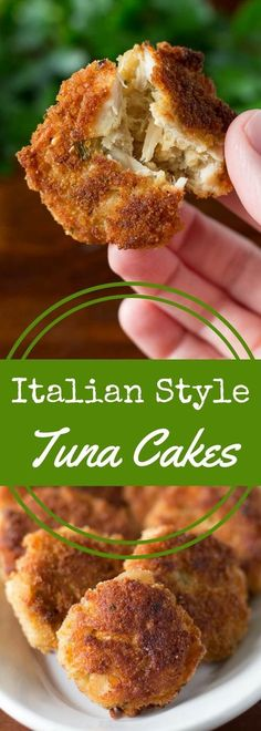 Crispy, crunchy tuna cakes made with albacore tuna are perfectly easy and made with just four ingredients! This recipe is great for appetizers or dinner. via (Tuna Dip Recipes) Fish Recipes, Seafood Recipes, Cooking Recipes, Seafood Meals, Burger Recipes, Salmon Recipes, Fish Dishes, Seafood Dishes, Sauces
