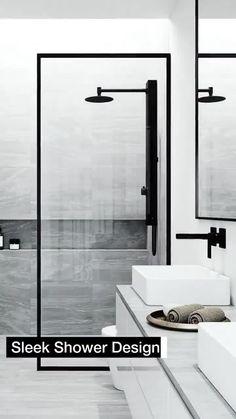 Shower Panels, Shower Doors, Bathroom Interior Design, Interior Design Living Room, Shower Units, Shower Screen, Shower Enclosure, Glass Shower, Modern Bathroom