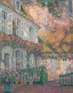 A Mansion in the Afternoon - Henri Eugene Augustin Le Sidaner (French, 1862-1939)