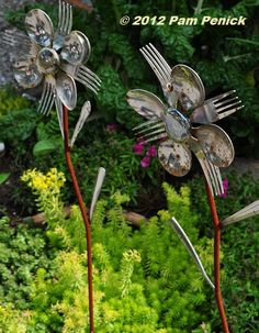 fork and spoon flowers  Digging » Bee-utiful community and food gardens at Asheville Fling