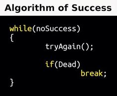 Algorithm of Success