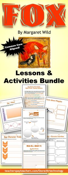NEW ACTIVITIES ADDED! An injured magpie and a one-eyed dog live happily together in the forest, until a jealous fox arrives to teach them what it means to be alone. Bundle uses Depth of Knowledge (DOK) multi-level activities to help students gather information and understand what students are reading!