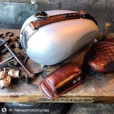 Leather Work well done seat and tank belt made in Heroes Motorcyles Los Angeles…. Leather Work well done seat and tank belt made in Heroes Motorcyles Los Angeles… – Bike Details Norton Motorcycle, Motorcycle Seats, Bobber Motorcycle, Motorcycle Leather, Motorcycle Design, Motorcycle Style, Bobbers, Tw 125, Bike Leathers