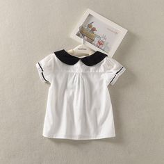 Encontre mais Blusas Informações sobre Bebê meninas verão blusas de manga curta camisas de algodão de verão…