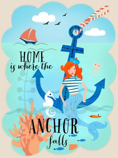 Home is where the Anchor falls Stretched Canvas