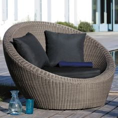 Wicker garden armchair in ... - Palerme