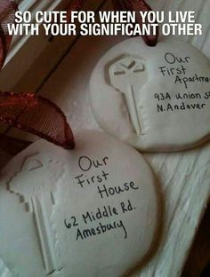 Cute idea for your first house or something that you share a key with when your living with the person