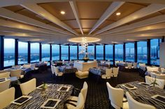 """If you're longing for a dinner with a view in picturesque Kentucky, Louisville delivers with Rivue Restaurant and Lounge. Located on the top floor of the prestigious Galt House Hotel, Rivue claims to have """"a view to dine for."""" They absolutely do and that's just the beginning of this restaurant's allure."""