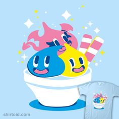 Slime Cream | Shirtoid #dragonquest #gaming #icecream #sketchdemao #slime #videogame