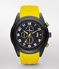 CHRONOGRAPH SILICONE STRAP WATCH - YELLOW #EXPRESS