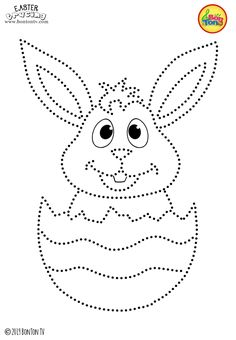 Easter Tracing and Coloring Pages for Kids - Free Preschool Printables and Worksheets, Fine Motor Skills Practice - Easter bunny, eggs, chicks and more on BonTon TV - Coloring books Easter Coloring Pages, Coloring Sheets For Kids, Coloring Books, Easter Bunny Pictures, Preschool Printables, Free Preschool, Embroidery Cards, String Art Patterns, Easter Activities