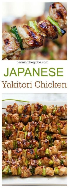 An easy home cooking recipe for the popular Japanese chicken and scallion kebabs: Chicken Yakitori Loading. An easy home cooking recipe for the popular Japanese chicken and scallion kebabs: Chicken Yakitori Japanese Chicken, Japanese Diet, Japanese Sauce, Japanese Treats, Japanese Food Healthy, Japanese Food Recipes, Asian Food Recipes, Oriental Recipes, Japanese 7 Spice Recipe