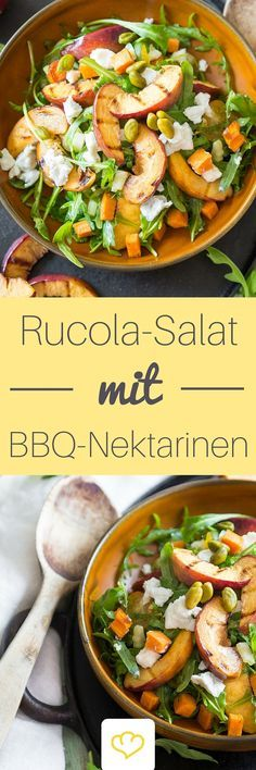 Der Sommer kann kommen: Gegrillte Nektarinen und Süßkartoffel-Salat