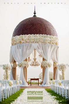 Love this over the top wedding ceremony decor. Styled the Aisle | Wedding Ceremony Ideas  | bellethemagazine.com