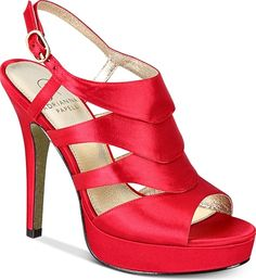 Adrianna Papell Women's Shoes in Red Color. Adrianna Papell Marlene Platform Evening Sandals Women's Shoes #AdriannaPapell #red #shoes