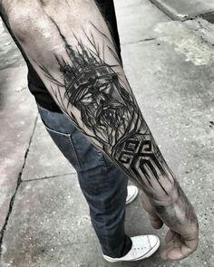 Tattoo Forearm Geometric Black 34 Ideas Source by Buddha Tattoos, Forearm Tattoos, Body Art Tattoos, New Tattoos, Sleeve Tattoos, Tattoos For Guys, Black Tattoo Art, Black Tattoos, Tribal Tattoos