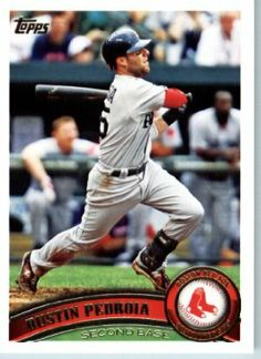 2011 Topps Baseball Card # 480 Dustin Pedroia - Boston Red Sox - MLB Trading Card (Series 2) in a Protective Screwdown Case by Topps. $0.01. This is one of the 1000s of great 2011 baseball cards being offered here!. This is one of 660 different cards available from the regular issue set of 2011 Topps !!. NOTE: Stock Image is Used. Great looking 2011 Topps Baseball Card !. Check out other listings for more great cards from this product!. 2011 Topps Baseball Card # 480 Dus...