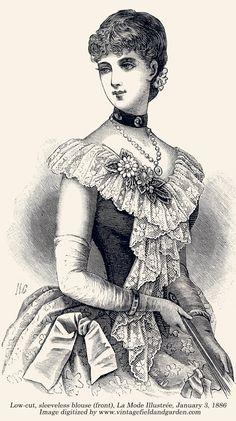 1886 Fashion Plate ~ Todo transfer (pág. 290) | Aprender manualidades es facilisimo.com